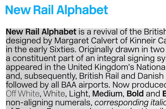 New Rail Alphabet
