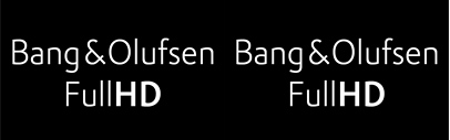 Custom font for Bang & Olufsen