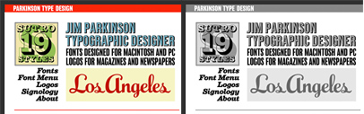 Parkinson Type Design