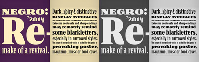 Negro upgraded by new styles and functions.