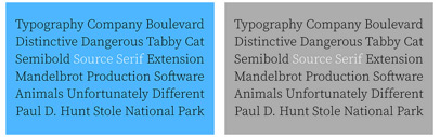 New weights for Source Serif: Extra Light' Light' and Black.