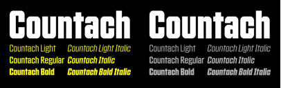 Countach' the official typeface of The Crew Game' by @ProductionType: it also supports Cyrillic.