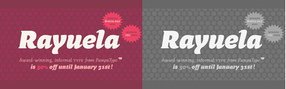 Rayuela by @pampatype is 50% off until Jan 31.