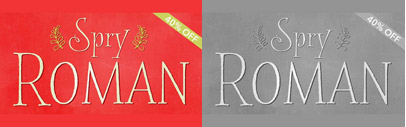Spry Roman' a handdrawn serif' by Stephen Rapp. 40% off until Feb 15.
