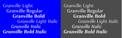 Granville' a contrasted sans serif' by @ProductionType