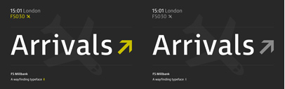 FS Millbank' a wayfinding sans' by @Fontsmith
