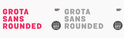 Grota Sans Rounded by @Latinotype. Grota Sans Rounded Complete Family is 88% off until  Mar 14.