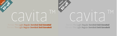Cavita by @Tipotype. 80% off until Mar 12.