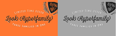 Look by @insigneDesign. The family is 85% off until April 3.