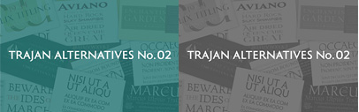 New Font Cluster:Trajan Alternatives No.2 has just added to our list.