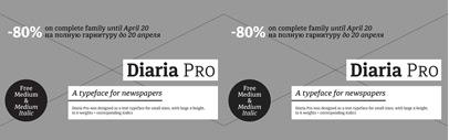 Diaria Pro by Mint Type. Diaria Pro Complete is 80% off until April 20. The Medium and Medium Italic are free of charge.