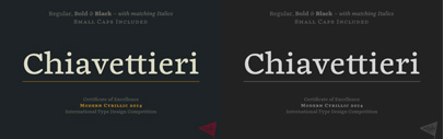 Chiavettieri' an awarded typeface' by @KosticType. 40% off until May 9.