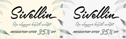 Sivellin by @MelvasType. Introductory offer 35% off until May 23.
