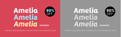 Amelia Rounded by @Tipotype. 90% off for a limited time.