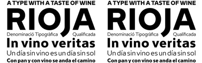 Rioja by @typerepublic: a type family inspired on how typography could be related to wine. It was first designed for the identity of Universidad de la Rioja (Logroño) and further developed in 2014 for comercial distribution.