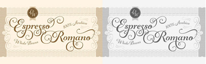 Gioviale' a hybrid of an italic text face and a script' by Laura Worthington.