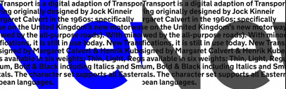 New Transport' a digital adaption of Transport lettering originally designed by Jock Kinneir & Margaret Calvert.