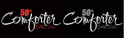 Comforter by TypeSETit. 50% off until June 13.