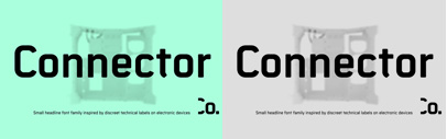 Connector' a geometric and technological headline font family' by Roman Černohous