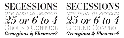 Essonnes' a contemporary Didot family in 3 optical weights' by @JTDType