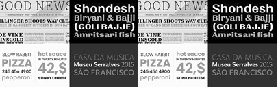 Decan' Quilon' Touche' and Vyoma; four Latin typefaces from @itfoundry