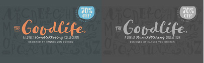 The Goodlife type family is a lovely handlettering collection designed by @hvdfonts. The family is 70% off until July 31.