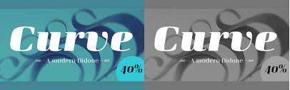 Curve' a squarish Didone typeface' by Arne Freytag. 40% off until July 18.