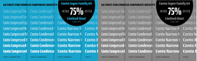 Three new narrower widths of Conto were added. 75% off until Aug 6.