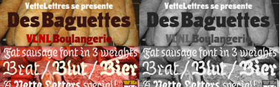 Two new typefaces from VetteLetters; VLNL Boulangerie & VLNL Wurst.