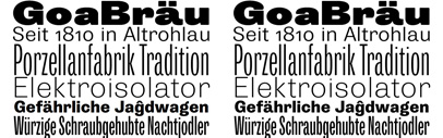 Storm Type Foundry released Trivia Grotesk. It includes 4 widths' 6 weights' and Italics.