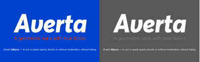 Averta comes with 8 weights + italics' and also supports Greek. Averta Family is 60% off until Aug 23.
