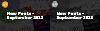 Let's look back at new fonts released in September.