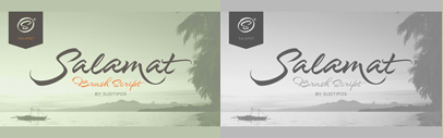 Salamat' a brush script typeface' by @Joluvian & @alepaul. 35% off until Sep 18.