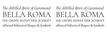 Cormorant' a display serif typeface inspired by the Garamond heritage. Designed by @CatharsisFonts.