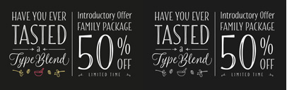 Blend' a hand-drawn font family' by Sabrina Mariela Lopez. Blend Family Package is 50% off until Oct 23.
