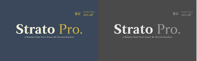 Strato Pro by @mostardesign. Strato Pro Complete Family is 85% off until Oct 31.