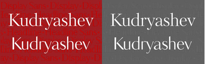 Kudryashev Display Serif and Kudryashev Display Sans by @ParaTypeNews