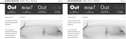 A new Norwegian type foundry Monokrom Type Foundry has just launched.