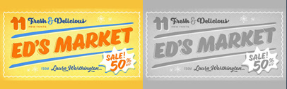Ed's Market' a brush lettered typeface collection' by @L_Worthington. 50% off until Nov 15.