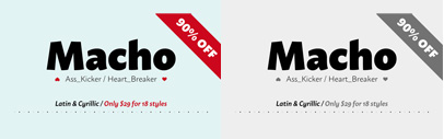 Macho by Dada Studio. 90% off until Nov 29.