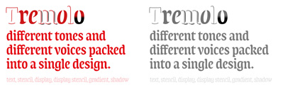 Tremolo Type System (text' display' stencil' gradient' shadow) by @typonine_djurek