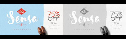 Sensa' a handmade font family. Sensa Family is 75% off until Dec 25.