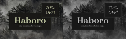 Haboro by @insigneDesign. 70% off until Feb 19.