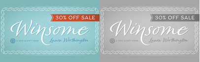 Winsome by @L_Worthington. 30% off until Feb 20.