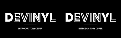 Devinyl consists of 8 styles. 50% off until Feb 23.