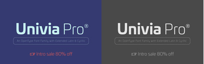 Univia Pro by @mostardesign. Univia Pro Complete Family is 80% off until Feb 26.