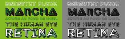 Macula' an optical illusion typeface' from Bold Monday