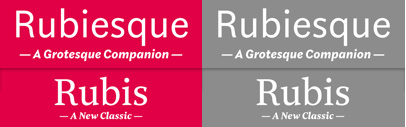 Rubiesque & Rubis by Nootype