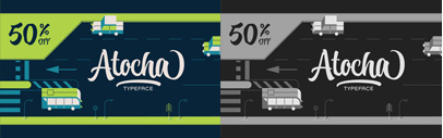 Atocha by @sudtipos. 50% off until Apr 15.
