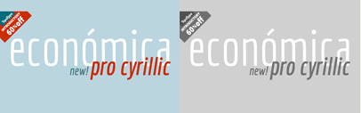 Economica Cyrillic PRO. Economica Cyrillic PRO Family is 60% off until April 27.